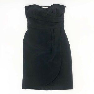 Ann Taylor Womens Sheath Dress Black Silk Lined 0